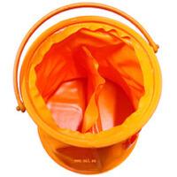 小号水桶带隔层的洗笔筒/桶 橡胶折叠水桶 伸缩水桶 小号画画用水桶 美术