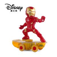 漫威复仇者联盟4钢铁侠特技滑板车玩具音效充电遥控车