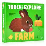 农场动物触摸书 Touch and Explore Farm英文原版绘本 精装触摸翻翻书 儿童STEM科普百科亲子共读