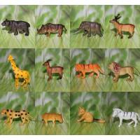 皇冠!仿真野生动物大象 长颈鹿 斑马等模型动物玩具 12只入教具
