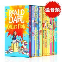 新版Roald Dahl 罗尔德达尔16册套装 英文原版 儿童课外阅读桥梁书 BFG查理和巧克力工厂读物获奖文学小说