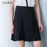 AMII[极简主义] 夏新品休闲通勤A字褶皱大码半身裙女