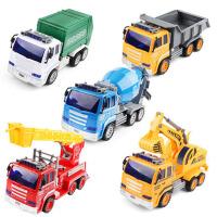 儿童工程车玩具套装惯性车声光仿真挖掘机消防车讲故事音乐男孩3