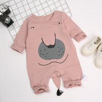 婴儿爬服婴儿衣服0-6个月春秋爬服2018新款外出满月服初生宝宝哈衣连体衣XM-5