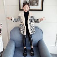 中大童秋冬季加厚毛呢大衣2019新款韩版洋气小女孩夹克女童呢子外套