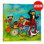 点读版 I am the Music Man 洞洞书 韵文童谣 英文原版绘本 平装 Child's Play 廖彩杏书