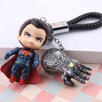 复仇者联盟3蜘蛛侠钥匙扣美国队长公仔雷神挂件个性男钢铁侠饰品
