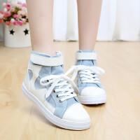 帆布鞋女鞋高帮运动鞋休闲鞋女单鞋英伦百搭学院风学生鞋
