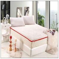 秋上新 加厚仿纯羊毛海绵床垫羊羔绒床垫长毛床褥子 可拆洗床垫定制