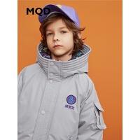 【1件3折:480】MQD童装男童加厚中长款连帽羽绒服2019冬保暖外套