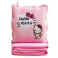卡通抱枕被子两用靠垫被办公室午睡枕头抱枕毯子暖手三合一空调被