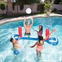 游泳池玩具儿童亲子水上游戏水球戏水篮球架排球手球门充气球