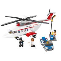 小鲁班  益智积木拼插玩具 拼装玩具 拼插模型航空天地 飞机系列 波音客机B0363