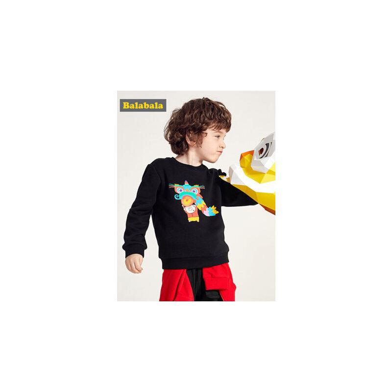 巴拉巴拉男童卫衣加绒2019新款春季童装儿童保暖上衣宝宝时尚韩版