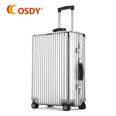 【高端铝镁合金】osdy新款24吋铝镁合金拉杆箱 高端金属箱商务出行行李箱LM1702铝镁合金非一般材质可比,品质之选