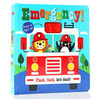 英文原版 紧急情况 闪光灯 Emergency Flashing flash let's dash 纸板翻翻书 百科科