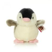六一儿童节520柏文熊企鹅公仔毛绒玩具儿童摆件玩偶可爱布娃娃儿童生日礼物女 灰色 高12厘米
