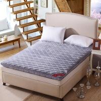 榻榻米保暖床垫珊瑚绒床褥子1.5m单人双人学生宿舍1.8米海绵垫被