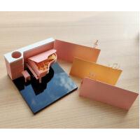 立体便利贴创意纸雕玩具贴纸男女生礼物日本立体文具便利贴 清水寺便签