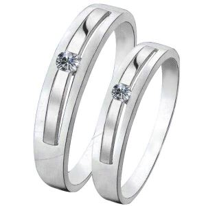梦克拉  钻石对戒  PT950戒指 清雅 铂金对戒  情侣对戒男戒女戒 钻石戒指 可礼品卡购买
