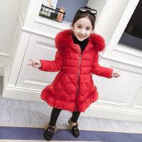 女童棉服冬装2018新款儿童洋气冬季中长款加厚外套棉袄小女孩棉衣