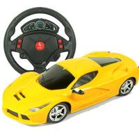 超大充电遥控车1:16儿童玩具车方向盘摇控汽车男孩玩具厂家批发 法 黄色 1:16