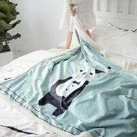 羊羔绒毛毯保暖法莱绒午睡毯双面绒水晶绒盖毯珊瑚绒儿童卡通被定制