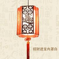 2019新品新品春节羊皮灯笼阳台结婚喜庆中式乔迁新年过年餐厅LED仿古吊灯