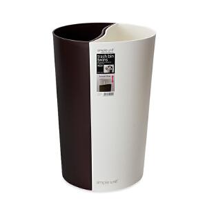 Lustroware 原装进口垃圾桶15.6L 白棕色L-1095/WB