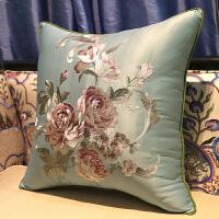 新中式刺绣红木沙发抱枕靠垫大靠背床头靠包中国风靠枕含芯定制套 35x50cm (靠枕套)