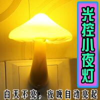 蘑菇光控小夜灯睡眠灯创意节能灯LED感应夜光灯喂奶起送朋友闺蜜礼物 光控款蘑菇黄光