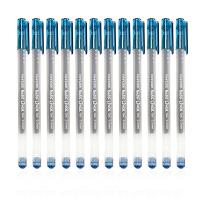 爱好 全针管中性笔 墨蓝色0.5mm(12支装)一体式中性笔 大容量顺滑水笔 签字笔 碳素笔 医生处方笔 8761 当