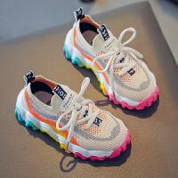 女童鞋子春秋运动鞋儿童单网鞋夏季透气网面老爹鞋