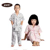 金丰田夏儿童家居服 儿童节礼品 针织儿童可爱卡通短袖睡衣套装1216