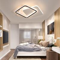 精美护眼时尚卧室灯吸顶灯创意个性led几何家用房间灯黑白现代简约小卧灯具精美时尚吸顶灯 全白小号 40*9CM 白光