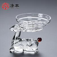唐丰玻璃公道杯茶漏套装创意家用功夫茶不锈钢过滤网