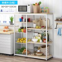 【热卖新品】厨房置物架三层微波炉架子落地式多层四层调味料收纳架五层烤箱架