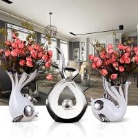 欧式客厅装饰品摆件酒柜电视柜创意家居陶瓷花瓶工艺品摆设