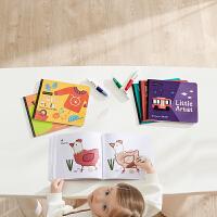 babycare儿童画画本宝宝涂色本 幼儿园绘画涂鸦填色益智绘本套装