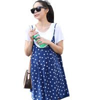慈颜 孕妇装 夏装 韩版 圆点二件套孕妇连衣裙 孕妇夏装孕妇裙 XDW12012