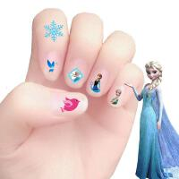 指甲贴儿童 冰雪艾莎儿童指甲贴女孩卡通美甲贴防水小朋友宝宝指甲贴纸