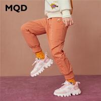 MQD童装女童韩版长裤2020春装新款加绒加厚宽松保暖儿童工装裤子