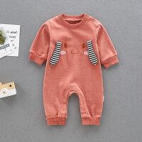 婴儿爬服婴儿连体衣男春秋0-1岁新生儿哈衣外出衣抱服长袖爬爬服宝宝衣服XM-3