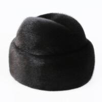 水貂帽子男中老年 貂毛老头帽冬天保暖皮草棉帽 护耳整貂皮地主帽