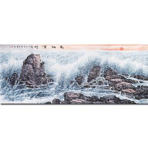 中国民族画院院长、中国大海研究会会长、一级美术师周 智 慧先生作品――海纳百川