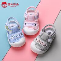 2019夏季新款学步鞋12-18个月男女童宝宝软底透气婴儿洞洞鞋