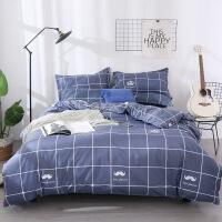 床单单件学生宿舍三件套床上用品被罩2纯棉单人被套1.2米1.5m两件定制