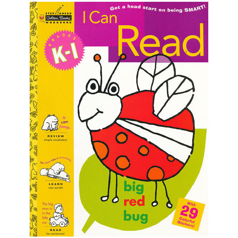 I Can Read (Grades K-1, Little Golden Book, Step ahead) 我会阅读(金色童书,学龄前练习册)9780307035882