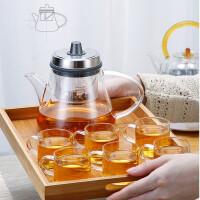 唐丰玻璃茶壶套组家用旋转可升降泡茶壶创意过滤飘逸杯功夫冲茶器