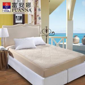 [当当自营]富安娜床垫床笠款羊毛保暖保护垫 水晶绒羊毛二合一保护床垫 米色 150*200